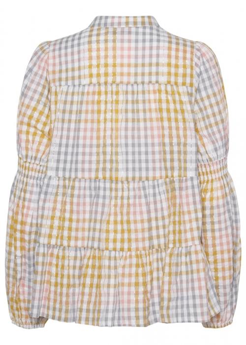 Sanna multi check shirt YEL:LOW