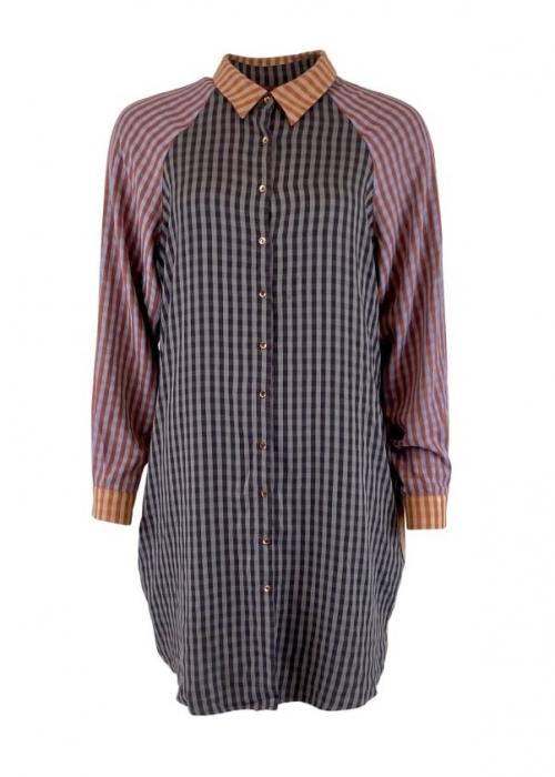 Janna oversize patchwork shirt