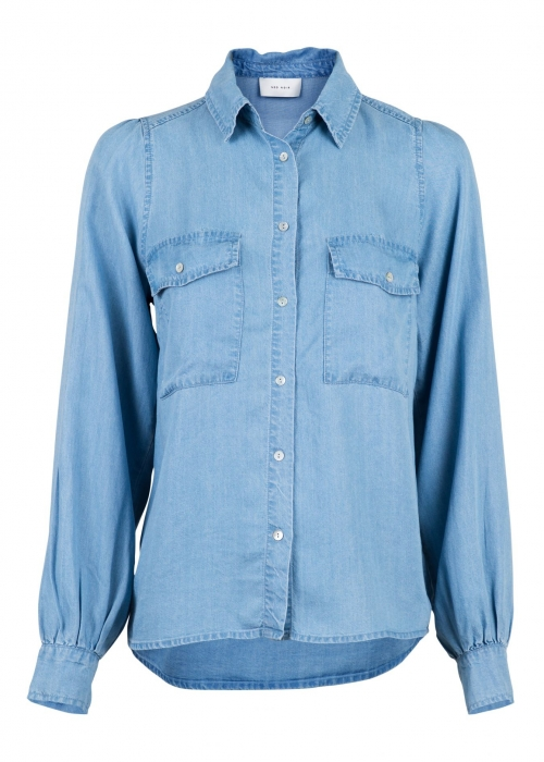 Amber chambray shirt DENIM BLUE