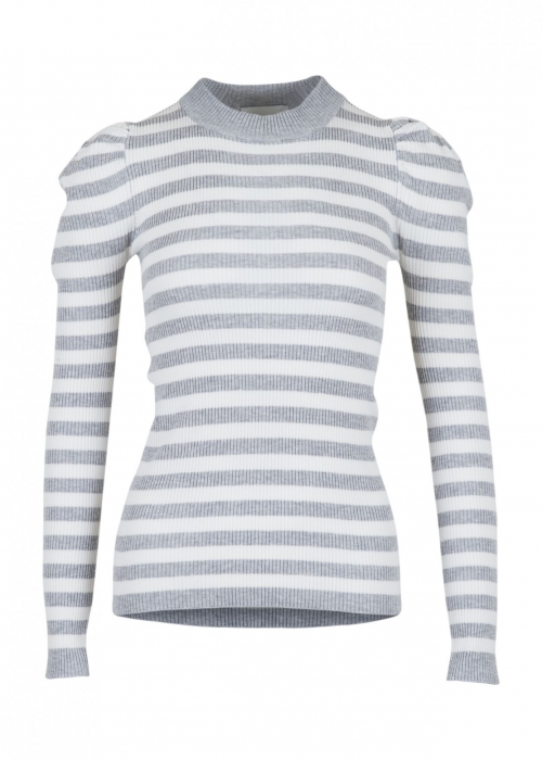 Vince stripe blouse LIGHT GREY