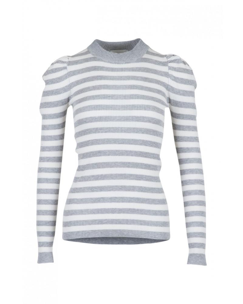 Vince stripe blouse LIGHT GREY