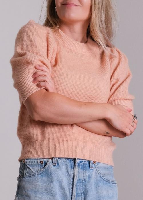 Abi stitch blouse PEACH MELANGE