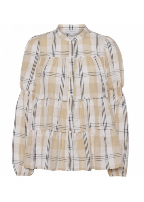Sanna big check shirt SAND