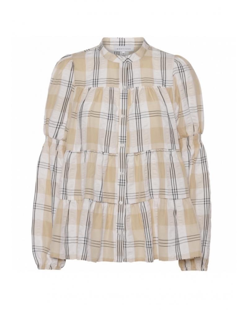 Sanna big check shirt SAND