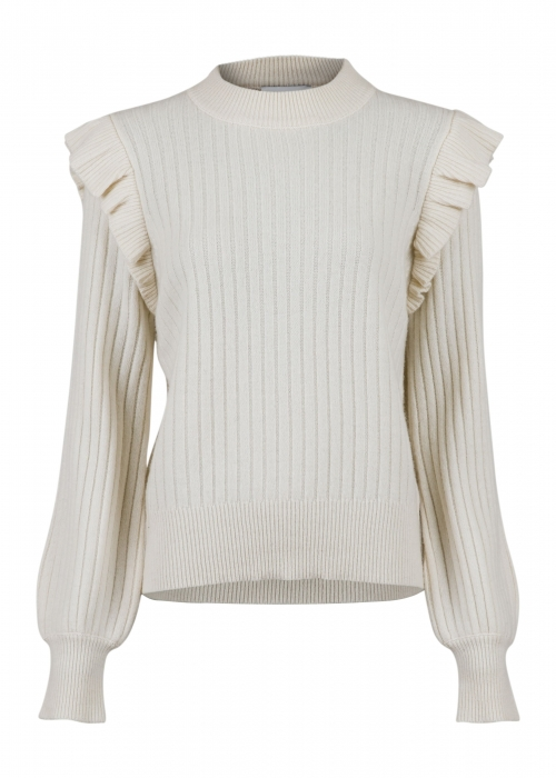 Wanda knit blouse OFF WHITE