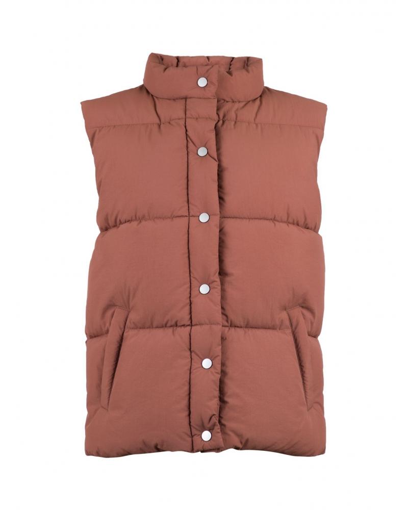 Frankie puffer waistcoat DUSTY ROSE