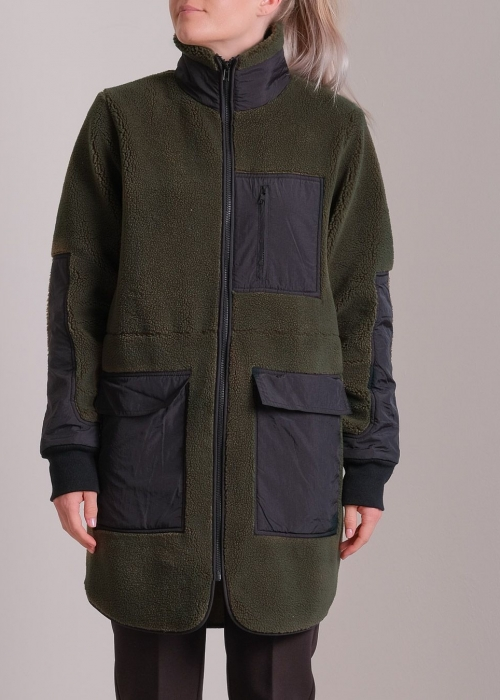 Flake teddy Jacket ARMY