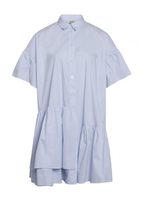 Organic poplin Darlene shirt dress LIGHT BLUE STRIPE
