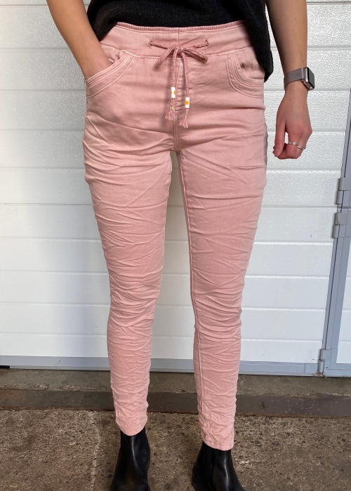 Soft jogging jeans 34 ROSE