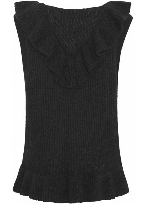 Naja fringle vest BLACK