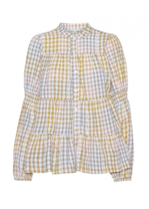 Sanna multi check shirt YEL:LOW