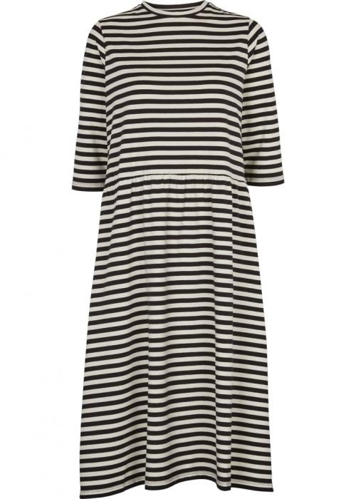Elba dress BLACK / OFF WHITE