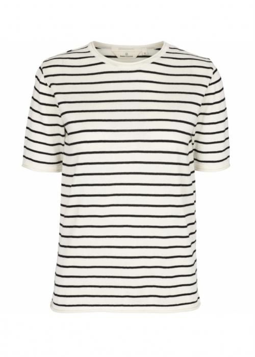 Soya tee stripe WHITE / BLACK