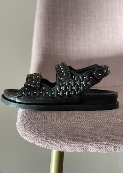 Copenhagen shoes Luxury studs on sandal BLACK (Preorder