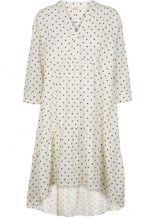 Abby dress dot OFF WHITE/BLACK