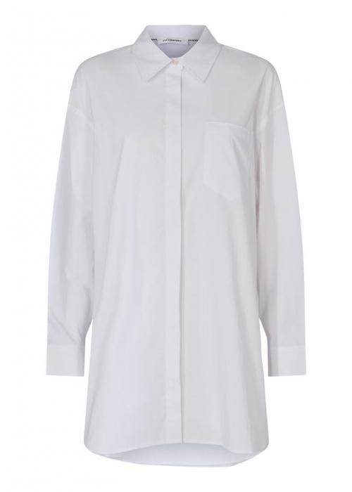 Hannah midi shirt WHITE