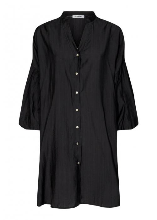 Avery Baloon tunic shirt BLACK