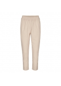 Shiloh Crop Leather Pants MARZIPAN