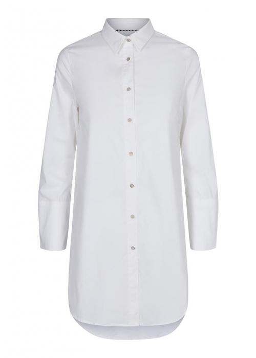 Noleen midi shirt WHITE