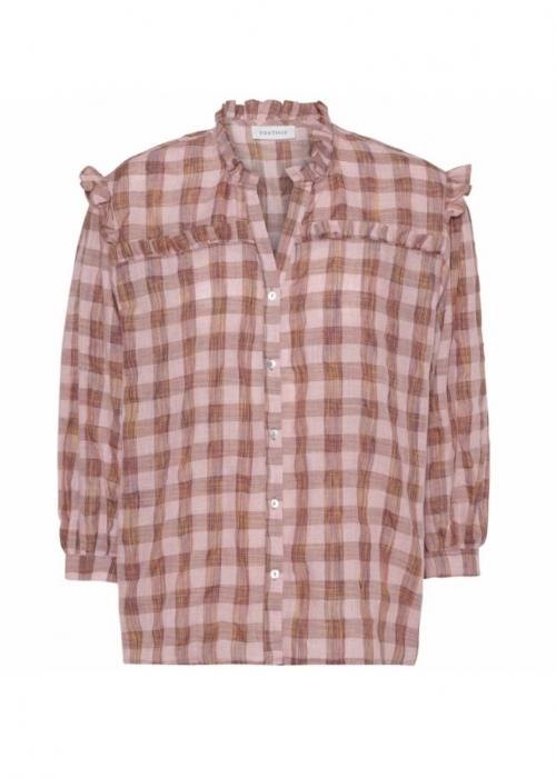 Sofia check blouse ROSE