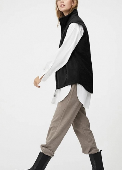 Ami fleece vest BLACK