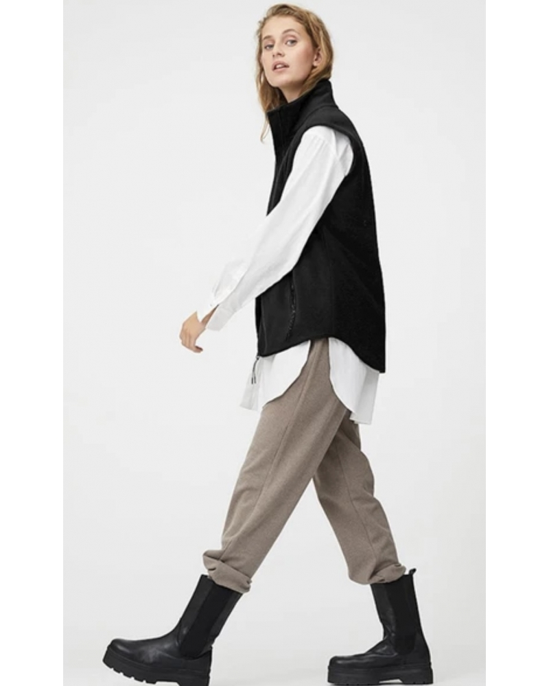 Ami fleece vest BLACK