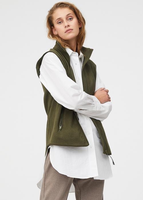 Ami fleece vest DARK ARMY