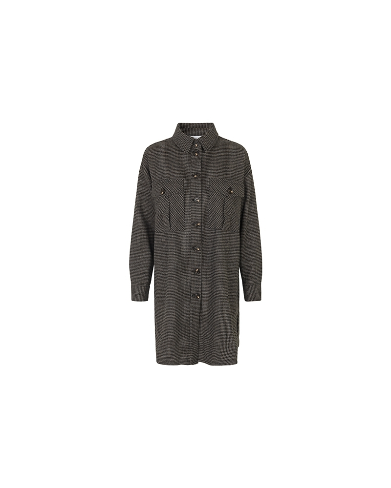 Kalium jacket CAMEL HOUNDSTOOTH