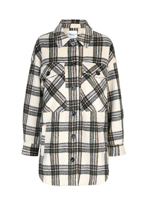 Josseline jacket CREME GREEN CHECK