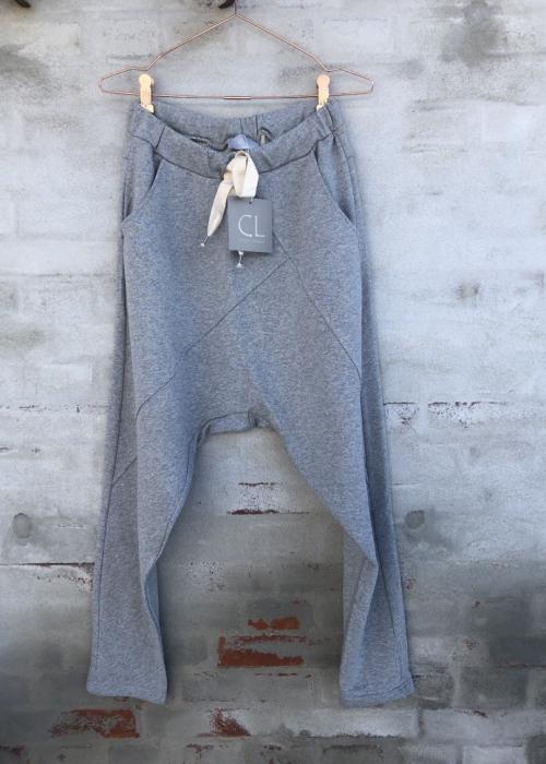 Baggy pant 16089 GREY MELANGE