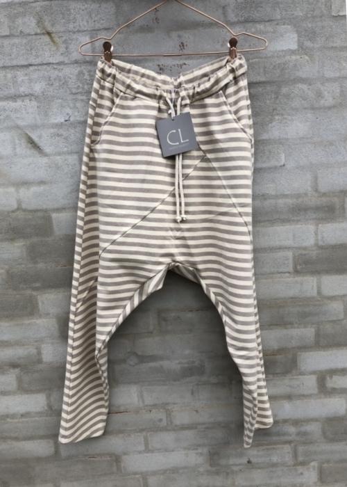 Baggy pant 51280 STRIPE BEIGE