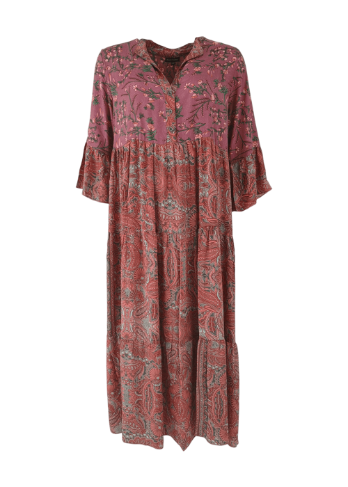 Luna boho long dress ROSE MIX