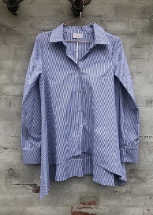 Stripe poplin blouse 30302 STRIPE