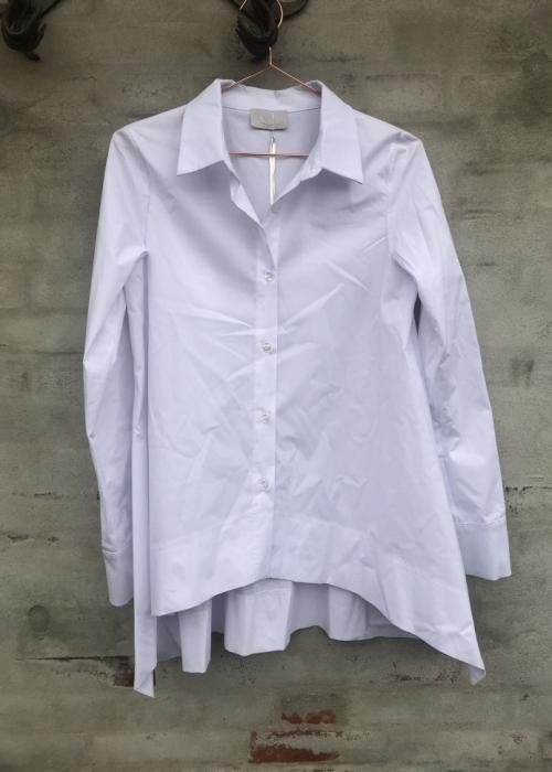 Stripe poplin blouse 30302 WHITE