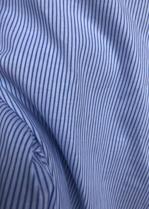 Cotton poplin blouse 19559 BLUE STRIPE