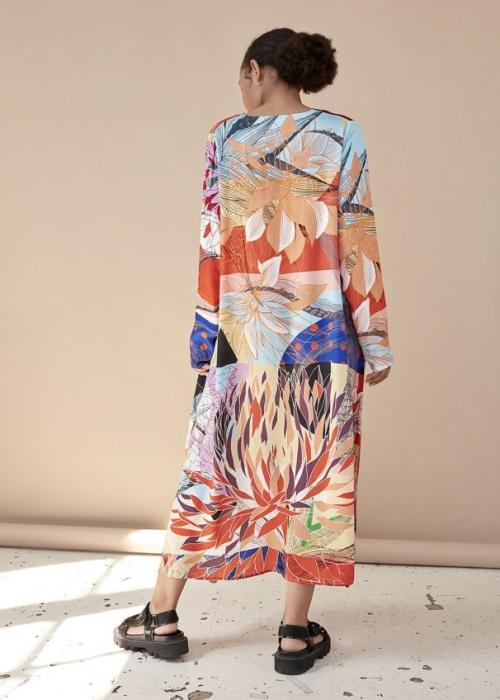 Alicia V-neck Dress MULTI ART PRINT