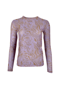 Florence mesh blouse PURPLE MARBLE