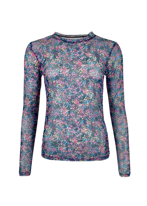 Florence mesh blouse MULTI FLOWER