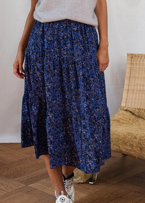 Morning skirt BLUE FLOWER PRINT