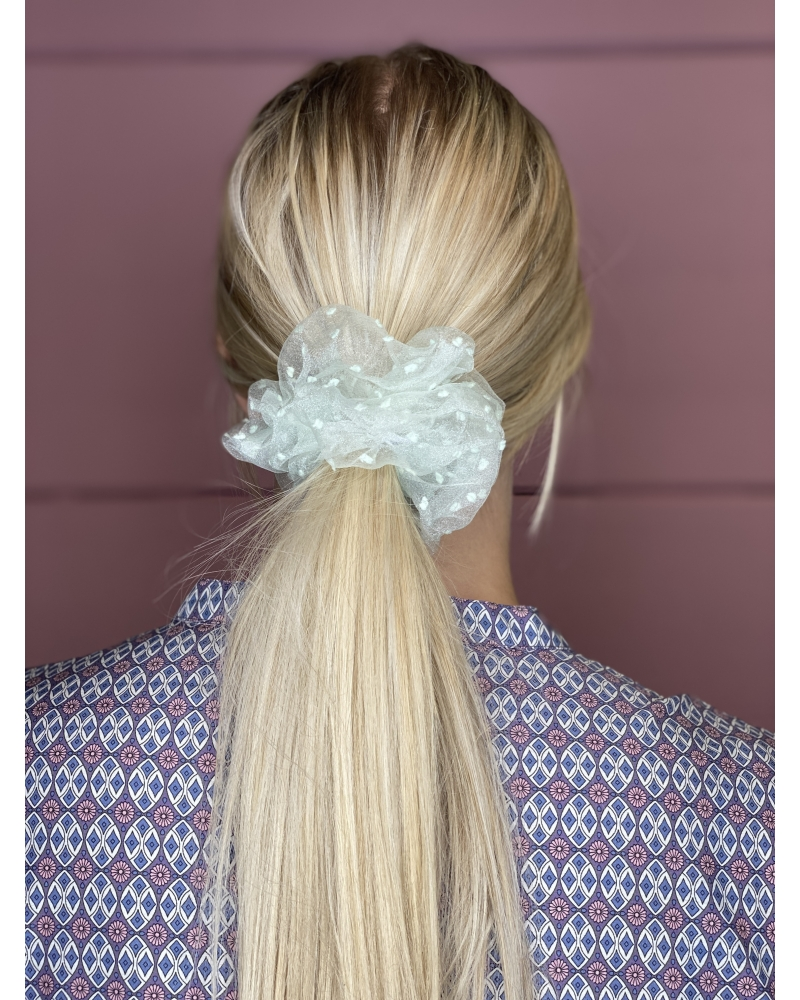 Bella dot mesh scrunchie MINT