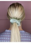 Naya satin mesh scrunchie GREEN