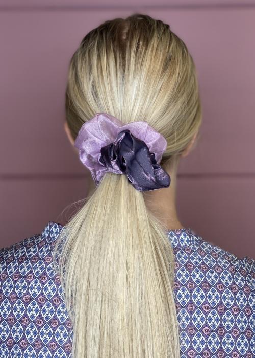 Naya satin mesh scrunchie PURPLE