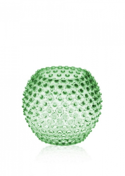 Hobnail Globe Vase 18 cm. LIGHT GREEN