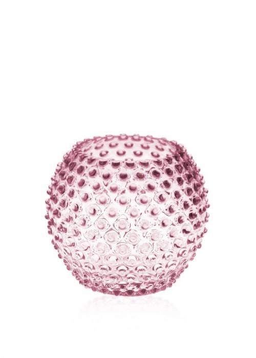 Hobnail Globe Vase 18 cm. ROSA