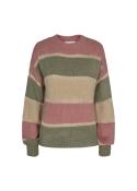 Bobbi lurex Pullover ROSE ARMY STRIPE