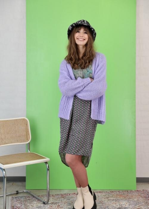 Felicity short cardigan PURPLE