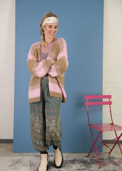 Avery brushed knit cardigan CANDY ROSE