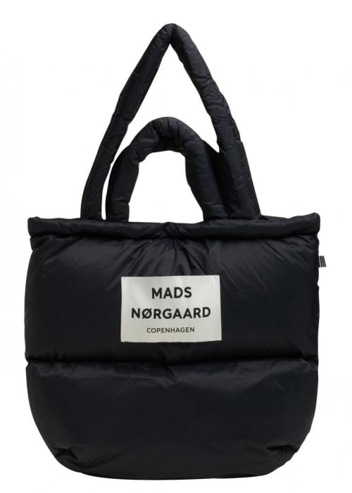 Shiny recy Pillow bag BLACK