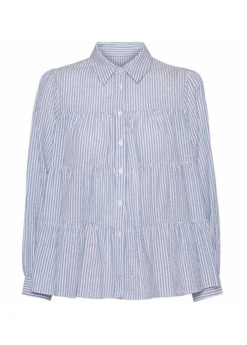 Melina cotton shirt BLUE STRIPE
