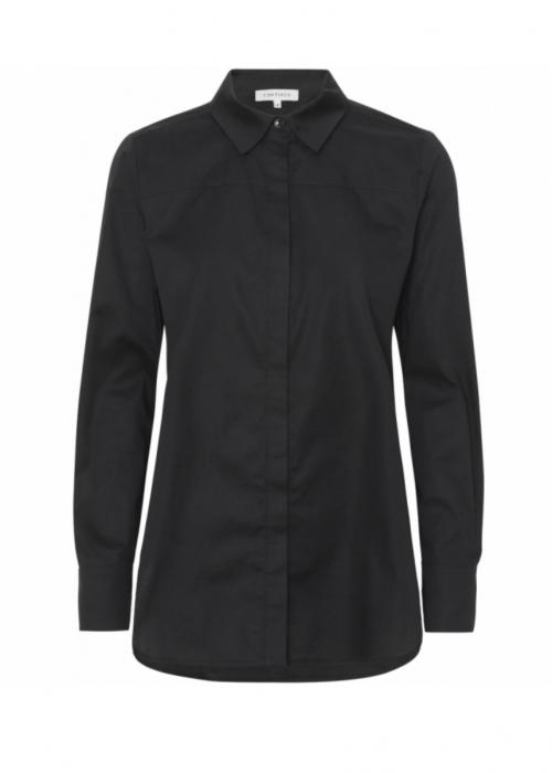 Melia solid shirt BLACK